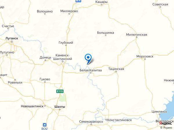 хутор Дядин на карте