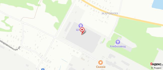 Карта расположения пункта доставки DPD Pickup в городе Архангельск
