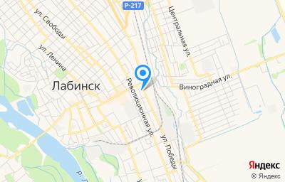 Местоположение на карте пункта техосмотра по адресу Краснодарский край, г Лабинск, ул Победы, д 366