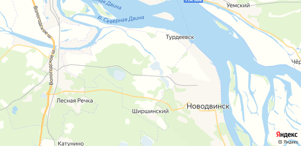 Средняя Гора на карте