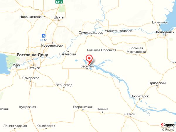 хутор Спорный на карте