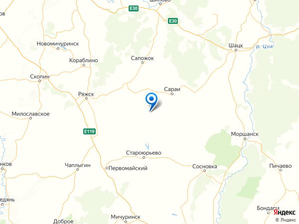 поселок Дмитриевка на карте
