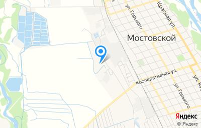 Местоположение на карте пункта техосмотра по адресу Краснодарский край, пгт Мостовской, ул Южная, д 11