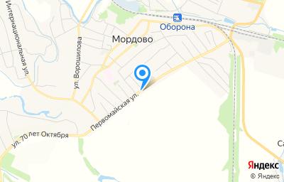 Местоположение на карте пункта техосмотра по адресу Тамбовская обл, рп Мордово, ул Первомайская, д 96