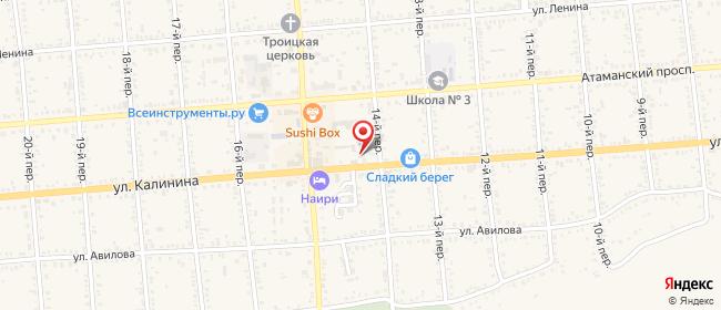 Карта расположения пункта доставки Халва в городе Семикаракорск