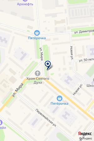 КАФЕ ГРАНАТ на карте Новодвинска