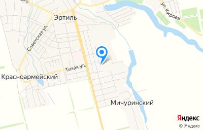 Местоположение на карте пункта техосмотра по адресу Воронежская обл, г Эртиль, ул Лесная, д 1Б