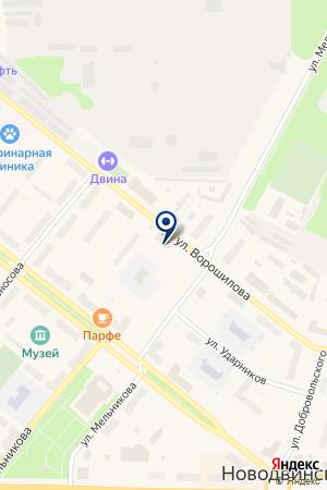 АВТОЦЕНТР АВТОУСЛУГИ на карте Новодвинска