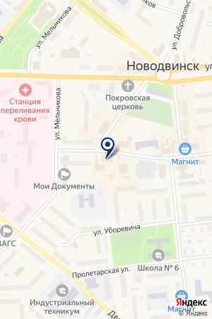 ГОРОДСКОЙ РЫНОК на карте Новодвинска