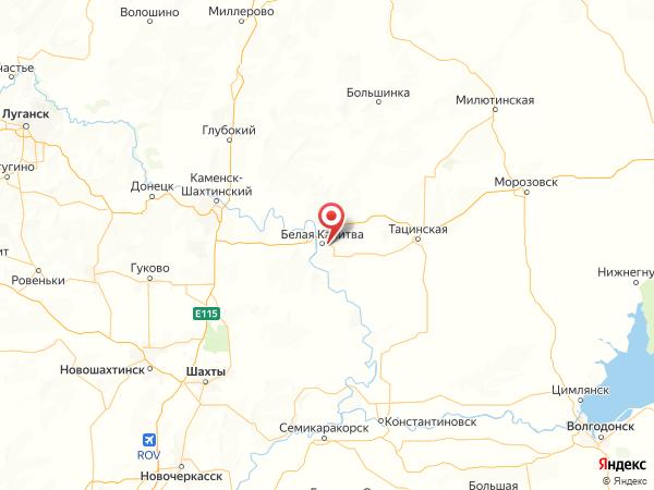 поселок Сосны на карте