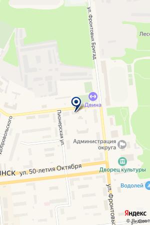 ПРОИЗВОДСТВЕННО-РЕМОНТНОЕ ПРЕДПРИЯТИЕ РЕМ-КОМП на карте Новодвинска
