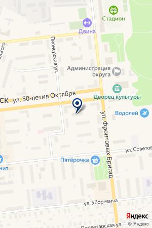 АТЕЛЬЕ ПО ПОШИВУ ОДЕЖДЫ ПРЕМЬЕРА на карте Новодвинска
