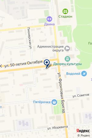 СТРОИТЕЛЬНАЯ ФИРМА ОРЕОЛ на карте Новодвинска