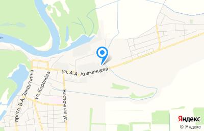 Местоположение на карте пункта техосмотра по адресу Ростовская обл, г Семикаракорск, ул А.А.Араканцева, д 35