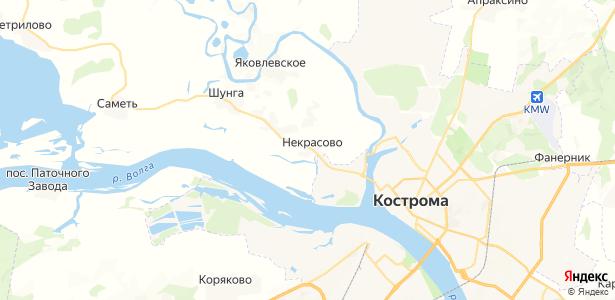 Некрасово на карте