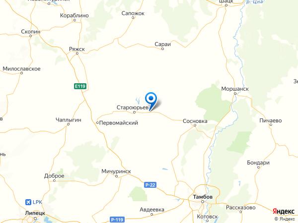 село Поповка на карте
