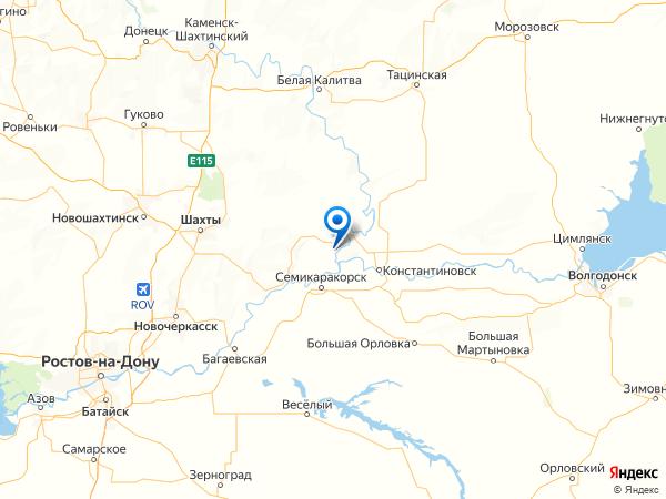 поселок городского типа Усть-Донецкий на карте