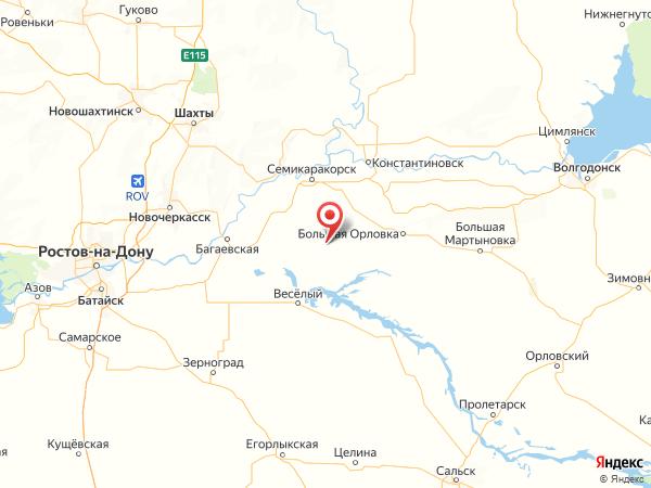 хутор Рассвет на карте