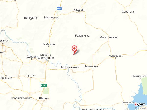 село Литвиновка на карте