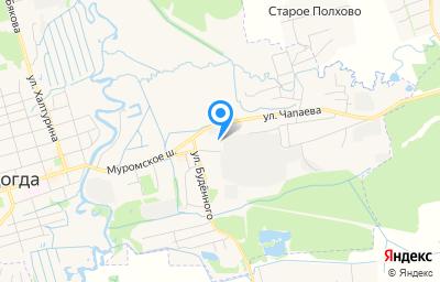 Местоположение на карте пункта техосмотра по адресу Владимирская обл, г Судогда, ул Коммунистическая, д 1