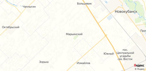 Марьинский на карте