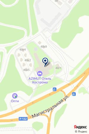 ГОСТИНИЦА АЗИМУТ на карте Костромы