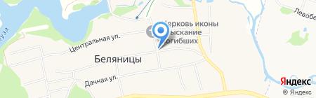 Продовольственный магазин на карте Беляниц