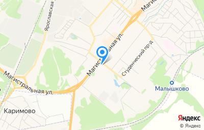 Местоположение на карте пункта техосмотра по адресу г Кострома, ул Магистральная, д 67