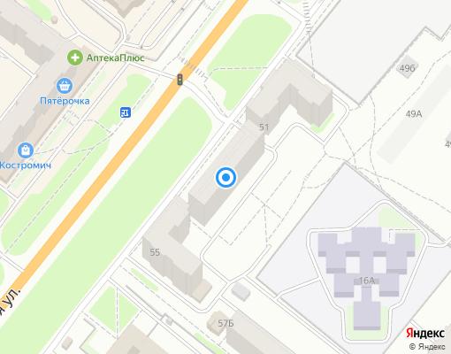 Товарищество собственников жилья «Магистральная 53» на карте Костромы