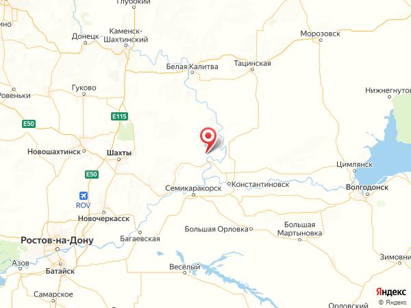 хутор Бородино на карте