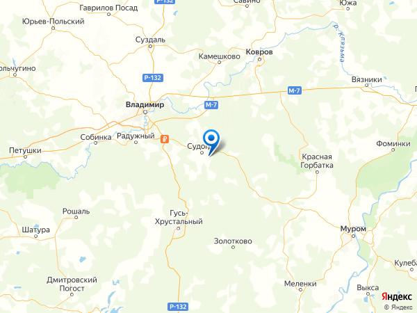 поселок Муромцево на карте