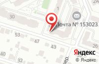 Схема проезда до компании Почтовое отделение №23 в Иваново