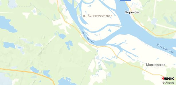 Негино на карте