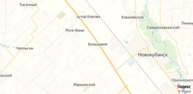 Большевик на карте