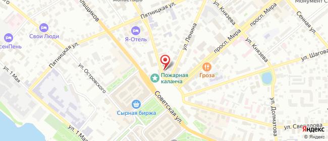 Карта расположения пункта доставки Кострома Симановского в городе Кострома