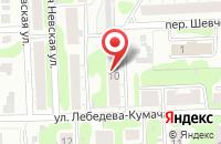 Схема проезда до компании Миледи в Иваново