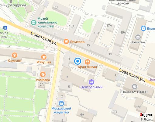 Товарищество собственников жилья «Заволжье» на карте Костромы