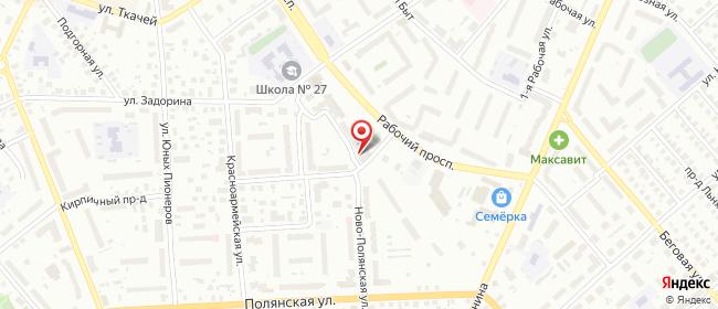 Карта расположения пункта доставки Кострома Рабочий в городе Кострома