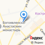Родник на карте Костромы