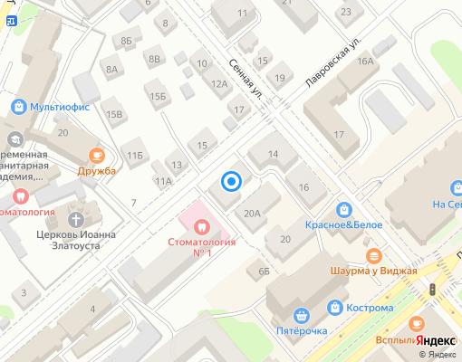 Товарищество собственников жилья «Лавровское» на карте Костромы