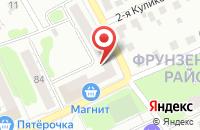 Схема проезда до компании For You в Иваново