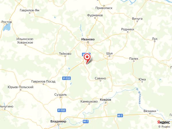 деревня Крутово на карте