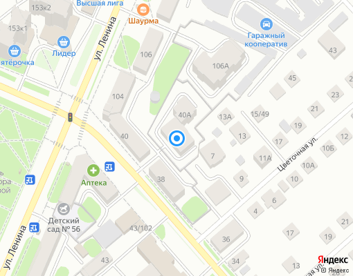 Товарищество собственников жилья «Пушкина 40А» на карте Костромы