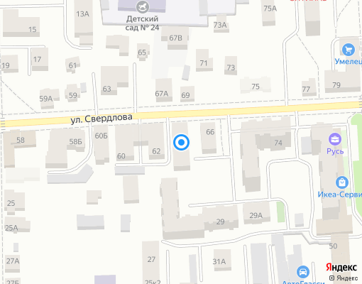 Товарищество собственников недвижимости «Свердлова 64» на карте Костромы