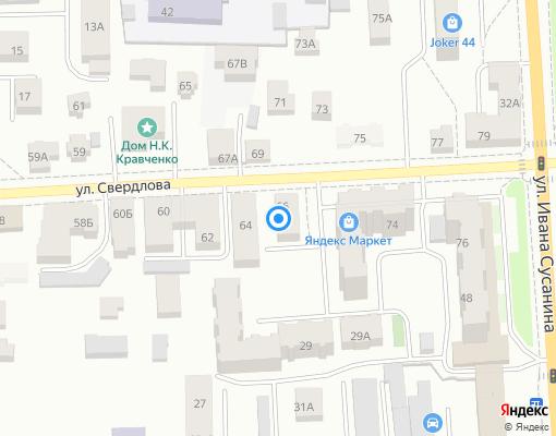 Товарищество собственников жилья «Свердлова 66» на карте Костромы