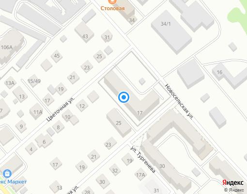 Товарищество собственников жилья «Новосельское» на карте Костромы