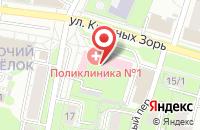 Схема проезда до компании Поликлиника №1 в Иваново
