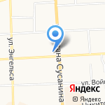 Галичские водки на карте Костромы