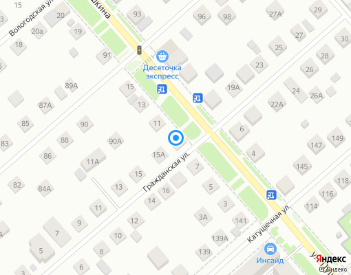 Управляющая компания «ЖКХ-сервис» на карте Костромы