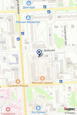РДС на карте Костромы